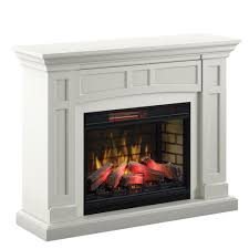 52 charlotte white electric fireplace
