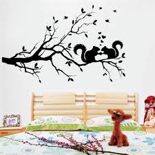 Cortoon Squirrel Wall Decal Tree Large Nature Kids Baby Room Decor Vinyl Wall Sticker Art Home Bedroom Poster Removable Z402 Wall Stickers Aliexpress