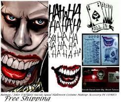 squad joker costume tattoo kit