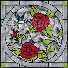 leaded stained glass hummingbird