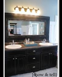 crown molding around mirror bathroom