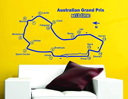 Amazon Com Wall Vinyl Decals Australian Grand Prix Track Circuit Map F1 Moto Gp Decor Art Vinyl Wall Sticker Decal Made In Usa Home Kitchen