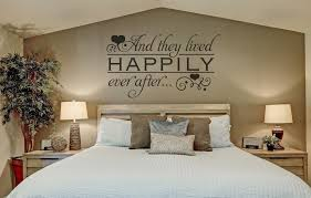 And They Lived Happily Ever After Wall Quote Bedroom Stickers