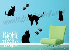 Kitten Silhouette Animal Wall Decals Vinyl Art Stickers Veterinarian
