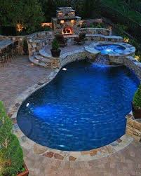 pool hot tub fireplace with images
