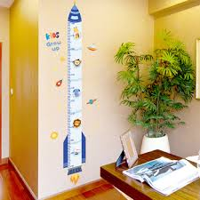 Mega Deal C7ed Height Measure Wall Stickers Diy Cartoon Rocket Wall Decals For Kids Rooms Baby Bedroom Nursery Decoration Cicig Co