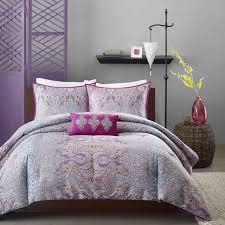 comforter set pink teal purple bedding