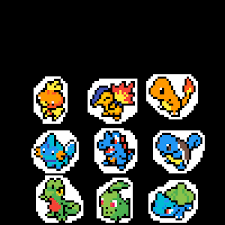Pixilart - pokemon gen 1, 2 and 3 starters by Anonymous