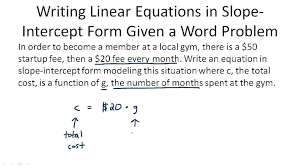 linear equation in point slope form