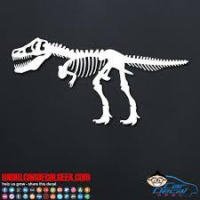 T Rex Skeleton Dinosaur Vinyl Decal Sticker Graphic