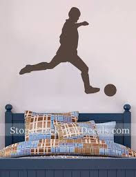 Soccer Decal Soccer Wall Decal Sports Vinyl Wall Decal Boys Etsy
