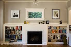 gas fireplace w built ins fireplace