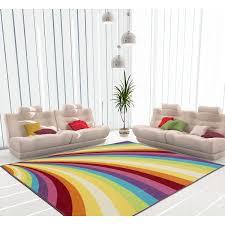 Shop Ottomanson Non Slip Multicolor Modern Rainbow Design Area Rug Kids Rug 3 X 5 Multi Color 3 3 X 4 7 Overstock 19874240