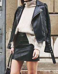 20 leather skirt outfits to wear this
