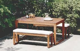 outdoor table bench set garden