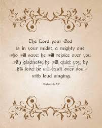 Zephaniah 3 17 The Lord Your God Brown Prints Inspire Me Allposters Com