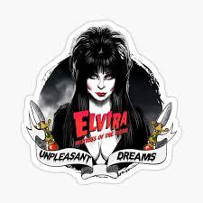 Goth Queens Elvira Mistress Of The Dark Sticker By Otracreativa Redbubble
