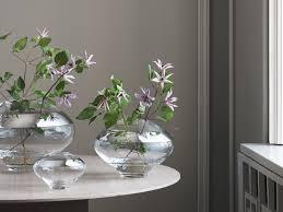 modern flower vase in blue green