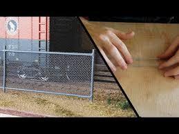 Chain Link Fence Model Railroad Scenery Youtube