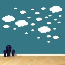 27pcs Wall Decals Stickers Diy Art Cute White Clouds Children S Room Decoration For Sale Online Ebay
