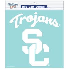 University Of Southern California Usc Trojans 8x8 White Die Cut Decal At Sticker Shoppe