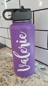 Custom Name Vinyl Decal For Flask Water Bottle