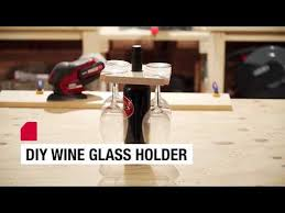 how to make your own wine glass holder