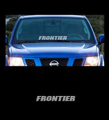 Product Frontier Front Windshield 23 Banner Decal Sticker Fits All Nissan Frontier