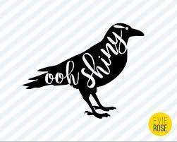 Oooh Shiny Decal Crow Custom Color Permanent Vinyl Decal Etsy In 2020 Vinyl Decals Custom Color Permanent Vinyl