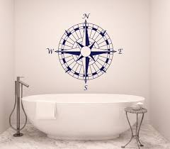 Buy Compass Wall Decal Bathroom Art Nautical Compass Rose Navigate Vinyl Sticker Decals Art Home Decor Wall Decal Bedroom Ship Ocean Sea X174 In Cheap Price On Alibaba Com