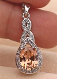 white gold filled teardrop pendant