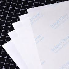 Clear On White Decal Paper For Ink Jet Printers