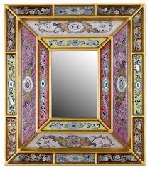 florid majesty reverse painted glass