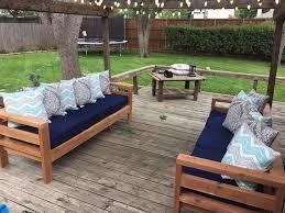 diy patio furniture outdoor sofa diy