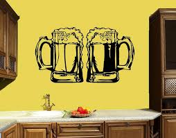 Mugs Wall Decal Kitchen Decor Bar Beer Alcohol Drink Wall Vinyl Stickers Muraux Adesivo De Parede Removable Home Decorative Removable Wall Stickers For Kids Rooms Removable Wall Stickers Nursery From Onlinegame 11 75