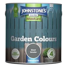 Buy Johnstone S Garden Colours Paint 2 5l Steel Smoke Shed And Fence Paint Argos