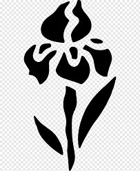 flower stencil schablone drawing
