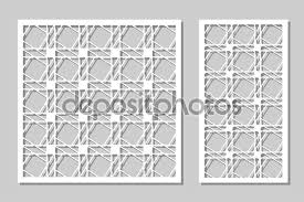 Set Decorative Panels Laser Cutting Wooden Panel Elegant Modern Geometric Pattern Of Lines Ratio 1 2 1 1 Vector Illustration Premium Vector In Adobe Illustrator Ai Ai Format Encapsulated Postscript Eps Eps Format