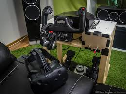 flight simulator with x plane and htc vive