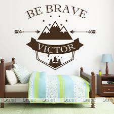 Be Brave Wall Decals Custom Name Wall Decals Nursery Decor 570 Decalhouse