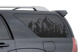 Amazon Com Mountain Scene Decals For Toyota 4runner In Matte Black For Side Windows Fits 4th Generation 2002 2009 Fr30 A Handmade