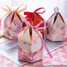 100pc Caja De Dulces Con Cinta De Chocolate Cajas De Regalo