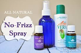 homemade no frizz hair spray all