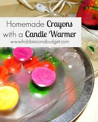 homemade crayons with a candle warmer
