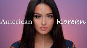 american vs korean makeup tutorial