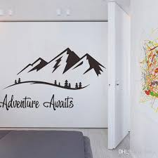 English Proverbs Adventure Awaits Wall Sticker For Living Room Study Home Decoration Mural Decals Wallpaper Mountain Stickers Stickers Wall Art Stickers Wall Decals From Qiansuning888 5 42 Dhgate Com