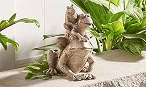 gift craft polyresin stacked bullfrogs