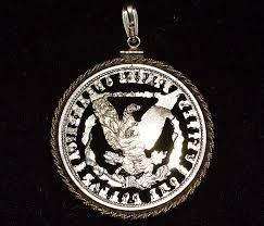 1921 morgan silver dollar pendant cut out