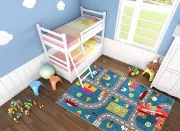 Amazon Com Ladole Rugs Adorable Cute Durable Soft Modern Moda Collection Kids Area Rug Carpet With Cars And Kids Area Rugs Blue Gray Area Rug Carpets For Kids
