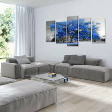 Kreative Arts Wall Decal Canvas Painting Contemporary Art Wall Poster Blue Tree Home Decor